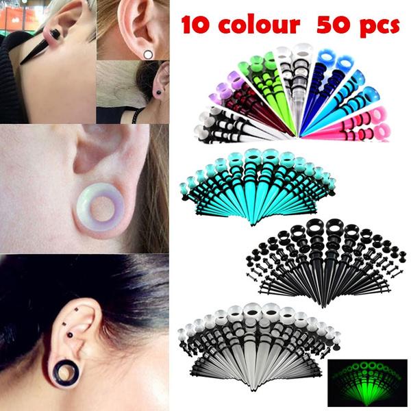 5 9 X SET EAR TAPERS EXPANDERS STRETCHERS KIT PLUG 10 6 3 2 1.6MM 2.5 8 4