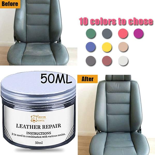 50ML Leather Color Repair Tool Car Seat Sofa Coats Scratch No Heat Liquid  Leather Vinyl Repair Kit