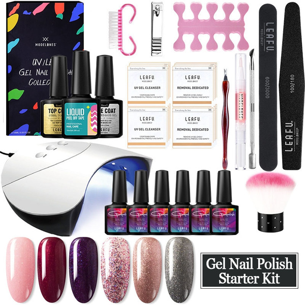 Infinite Nude 1 Step Nail Gel Kit with 6 Colors, No Base