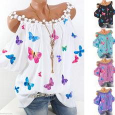 blouse, butterfly, Plus Size, autumnblouse