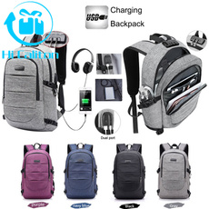 Fashion, schoolbackpackbag, Waterproof, usbchargingbackpack