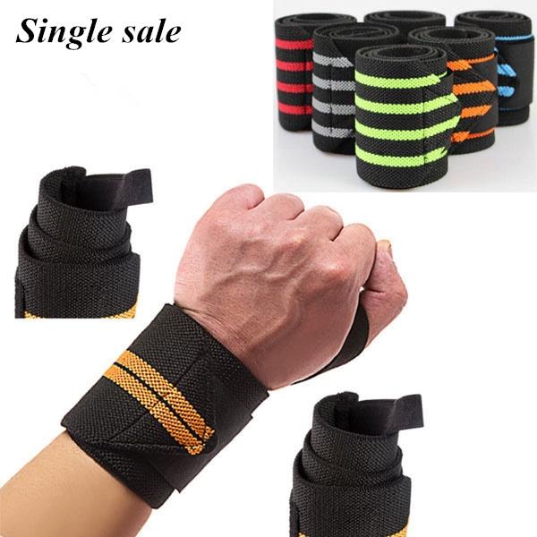 Weight Lifting Bar Straps Exercise Gym Wrist Support Wraps Bandage Knee Wrap