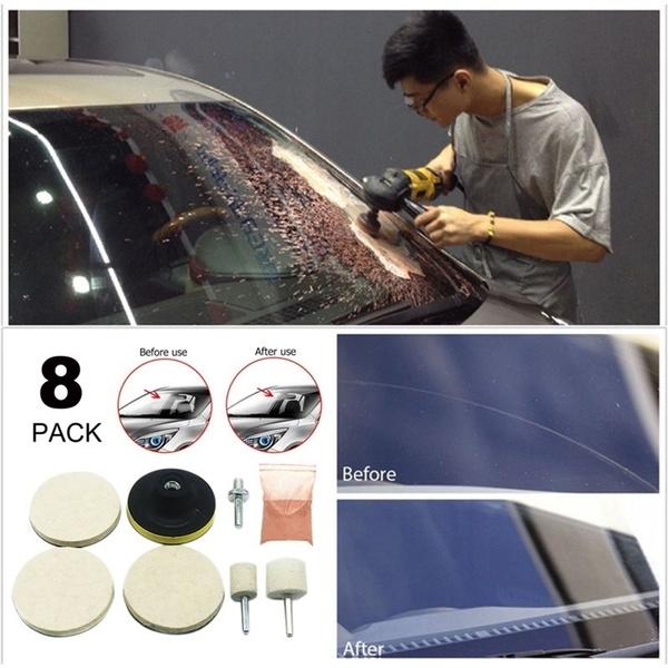 8Pcs Car Windshield Glass Scrach Remover /&8 OZ Cerium Oxide Powder Polishing Kit