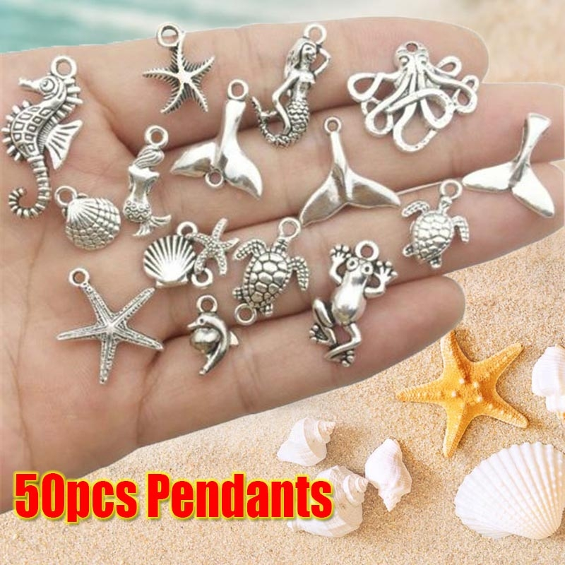 50x i love my cat Charms Ancient Silver Pendant for diy Making Jewelry Craft