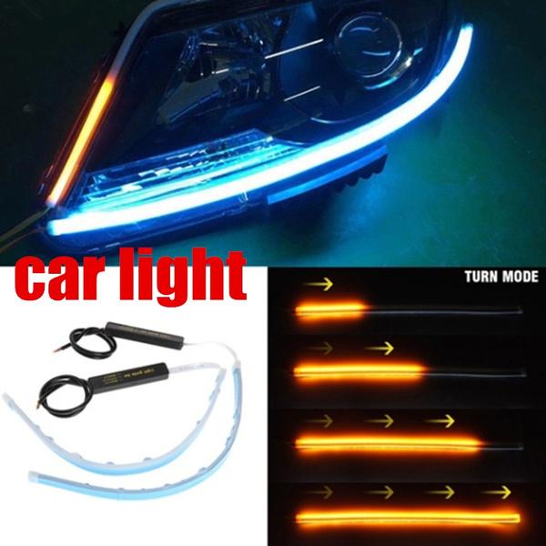 60cm Ultra Thin Car Soft Tube LED Strip Daytime Running Light Turn Signal Lamp