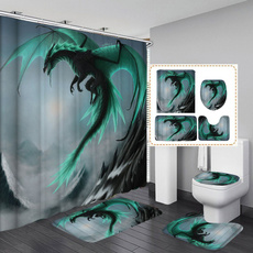 Bathroom, bathmat, Waterproof, dragoncurtain