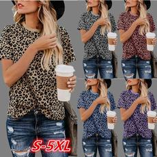 Summer, Plus Size, plussizetshirt, leopardtshirt