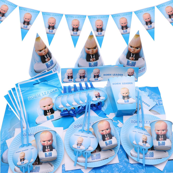 2019 New Children Party Supplies Cartoon The Boss Baby Theme Birthday Party Decoration
