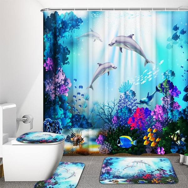 Bathroom, bathroomdecor, pedestalrug, waterproofcurtain