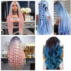 wig, gradientcolor, Fashion, longstraighthair