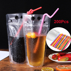 Home Supplies, dringkingbagwithstraw, Colorful, straw