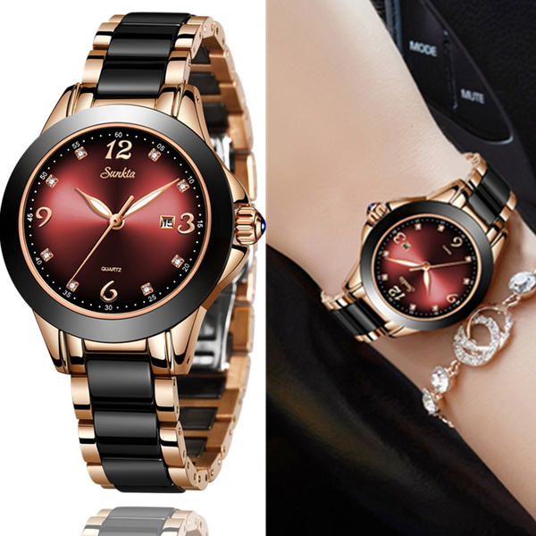 SUNKTA 2019 Women's Watches Luxury Brand Lady Ceramic Watch Women ...