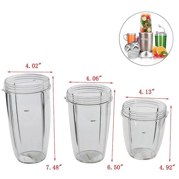 Mug Tall Cup For NutriBullet 900W Juicer Cup Mixer Accessory 18OZ 24OZ 32OZ PN