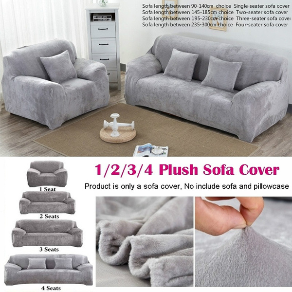 Excellent Plush Thicken Elastic Sofa Cover Universal Sectional Slipcover 1 2 3 4 Seater Stretch Couch Cover For Living Room Gmtry Best Dining Table And Chair Ideas Images Gmtryco