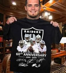raider, footballteam, Cotton T Shirt, raidersshirt