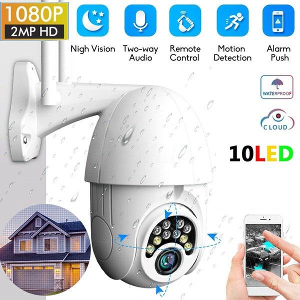 1080P HD Outdoor Waterproof 4X Zoom WiFi Security PTZ IP IR Camera Night Vision