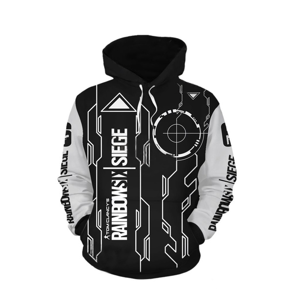 magasiner pour authentique design distinctif qualité fiable Tom Clancy Rainbow Six Siege Pullover Hoodie 3D Print Sweatshirt for Unisex
