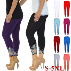 Leggings, Plus Size, capri leggings, Lace