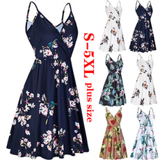 Summer, Sling, Dresses, Dress