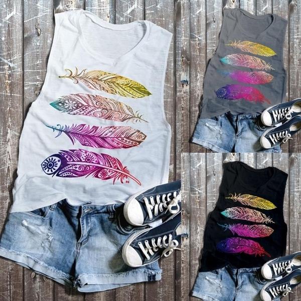 Summer, Collar, Fashion, Tank