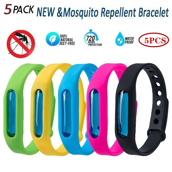 5pcs Natural Anti Mosquito Insect /& Bug Repellent Bracelet Bands
