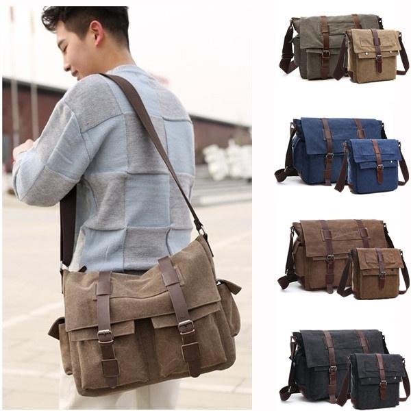 Canvas Business Briefcase Tote Casual Laptop Bags For Men Office Handbag Casual Man Shoulder Bags