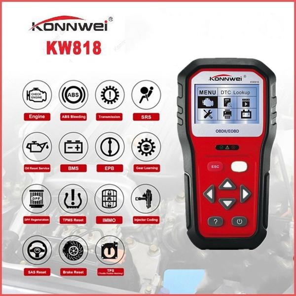 Best obd2 scanner CAN Car Code Reader Auto Clear Code Tool KONNWEI KW818
