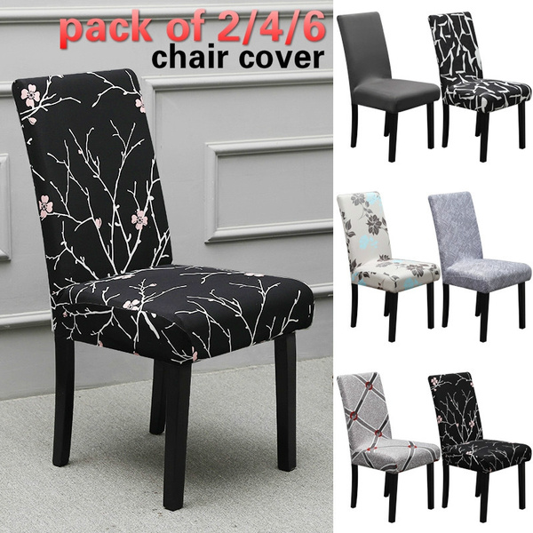 Pleasant 2 4 6Pcs Home Living Removable Wash Simple Stretch Dining Chair Covers Spandex Elastic Chair Protector Set Dining Room Hotel Party Wedding Chair Andrewgaddart Wooden Chair Designs For Living Room Andrewgaddartcom