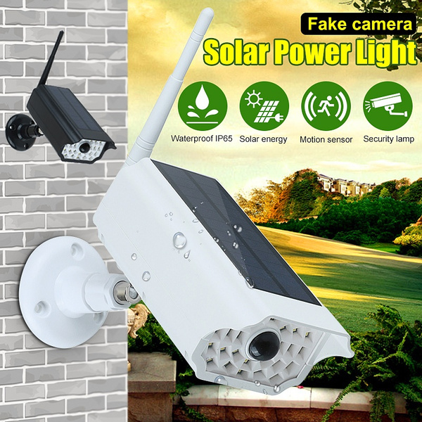30led Solar Lights Outdoor With Fake
