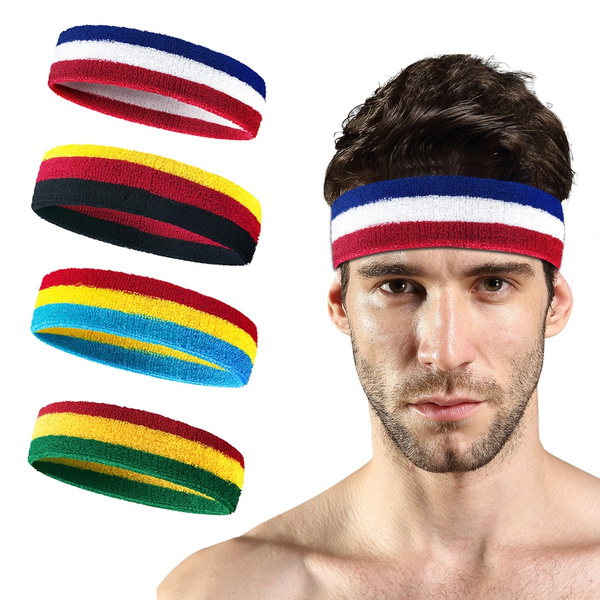 Men Women Sports Sweatband Headband Basketball Running Breathable