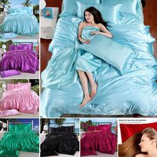 fittedsheetkingsize, sheetsamppillowcase, Bedding, Satin