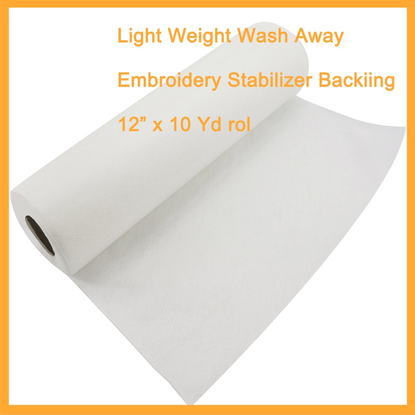 "12/""x10YD Roll of Water Soluble Wash Away Machine Embroidery Stabilizer Topping"