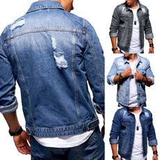 ripped, Fashion, Classics, denim jacket