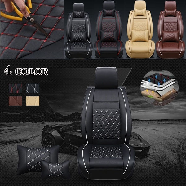 Surprising Fashion Napa Material Car Seat Full Leather Case Full Seat Cushion New Car Seat Cover Cushion Four Seasons Universal Leaflet 4 Styles Onthecornerstone Fun Painted Chair Ideas Images Onthecornerstoneorg