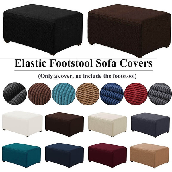 Marvelous High Quality Elastic Pedal Cover Stretch Storage Ottoman Slipcover Rectangle Footstool Sofa Cover For Living Room 9 Colors Gamerscity Chair Design For Home Gamerscityorg
