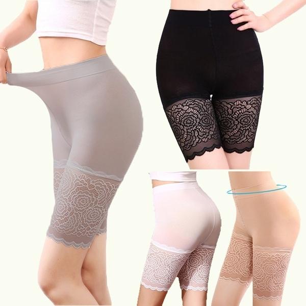 lace trim, Leggings, short leggings, high waist