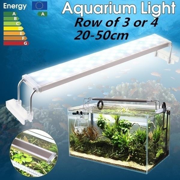 Super Slim LED Aquarium Lighting Aquatic Plant Lamp Retractable 20-50cm  Water Lamp Holder Fish Tank Light Bar