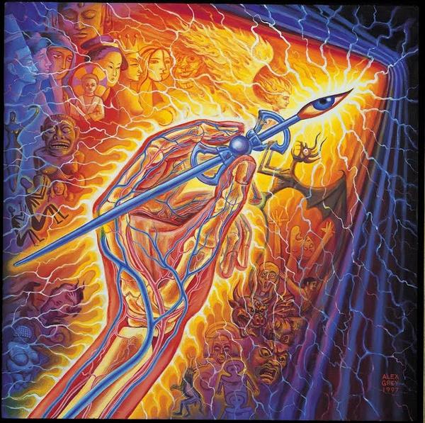 30x45cm/40x60cm/50x75cm Alex Grey Psychedelic Trippy Silk Poster Wall Art  Decoration