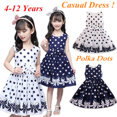 Summer, girls dress, Polkas, kidsprinteddre