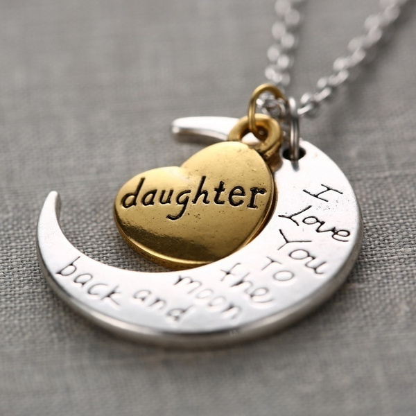 Love, Jewelry, giftnecklace, Moon