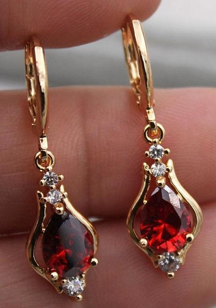 yellow gold, Dangle Earring, Gemstone Earrings, Gifts