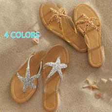 Flats, Flip Flops, Sandals, Star