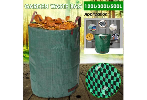 Heavy Duty Garden Waste Bag Reusable Waterproof Refuse Sack for Leaves Grass Bin