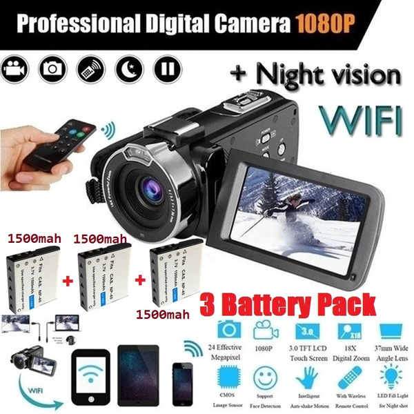 Andoer V12 1080P Full HD 16X Digital Zoom Recording Video Camera Portable  Camcorder with 3 0 Inch Rotatable LCD Screen Max  20 Mega Pixels Support