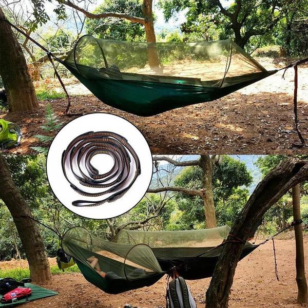 Adjustable Tree Hanging Hammock Straps Climbing Rope Aerial Yoga Hammock Belt