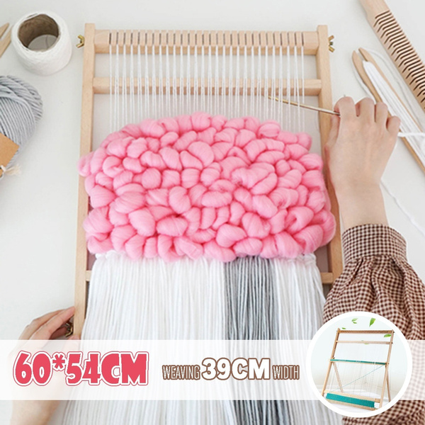 Weaving Loom Kit Looms Wooden Tapestry Hand Knitted Machine Diy Woven Set