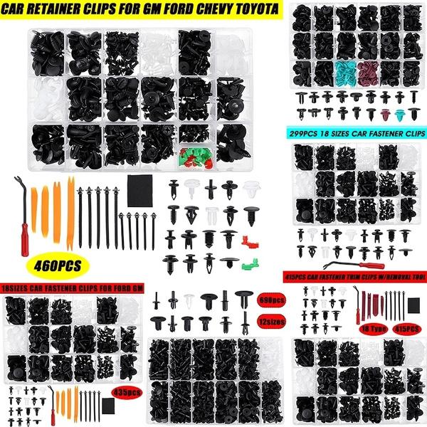 Assortment of 4 Sizes of Trim Clip 20 Piece Plastic Rivet Fasteners Kit VW