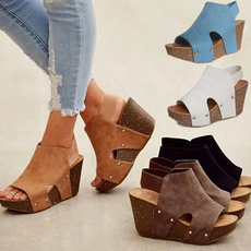 wedge, Sandals, Women Sandals, Womens Shoes