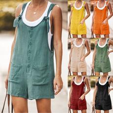 suspenders, Summer, Women Rompers, Shorts