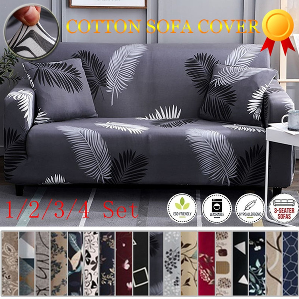 TOP QUALITY 18 Colors 1/2/3/4 Seaters Sofa Slipcover Stretch Protector Soft  Couch Cover Anti-Slip Elastic Home Indoor Furniture Decor Sofas Stretch ...